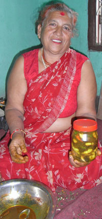 Anju, the achar didi and her products